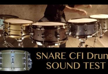 5 caisses claires CFI Drums à l'essai.